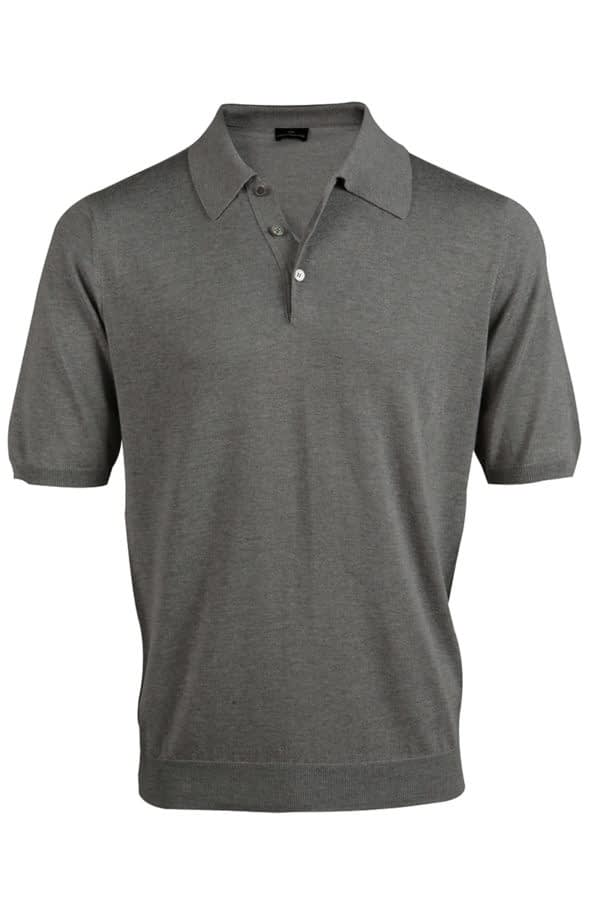 Shoal Silk Blend Polo Shirt - Birch Grey