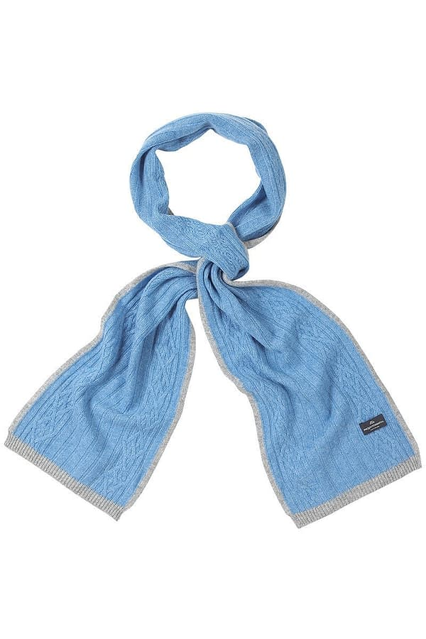Goodwood Scarf In Soft Blue And Grey