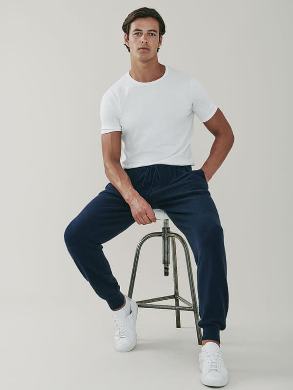 Portobello Cashmere Sweatpants - Navy