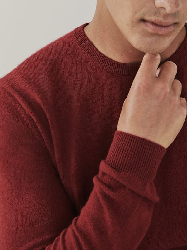 Canyon Cashmere Crew Neck Sweater - Maroon