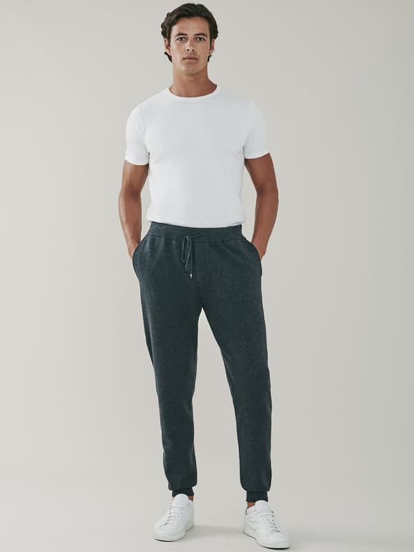 Squaw Cashmere and Merino Sweatpants - Grey