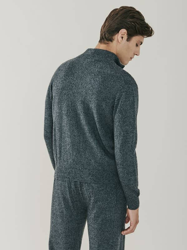 Carnaby Cashmere Zip Up Cardigan - Grey