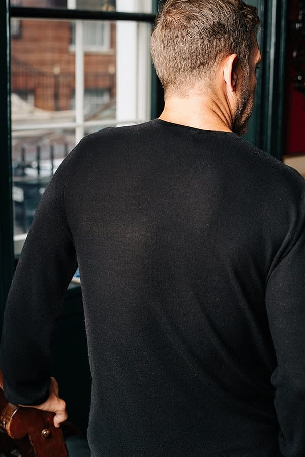 CONNERY - Black crew neck