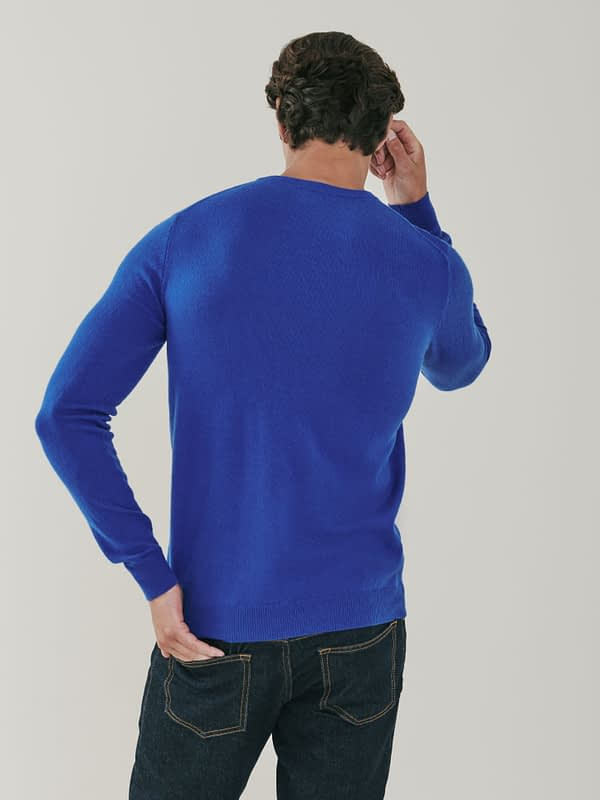 Canyon Cashmere Crew Neck Sweater - Azure Blue