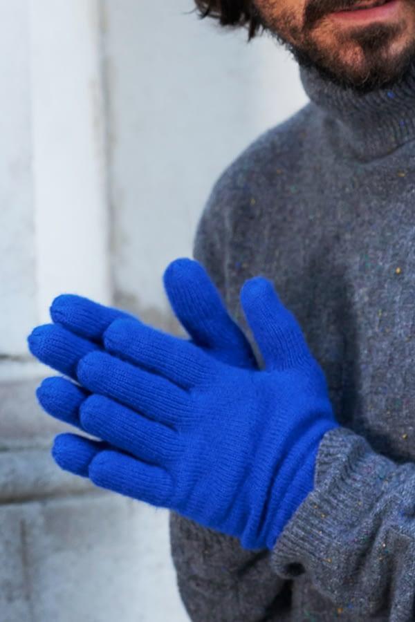 Alpine Cashmere Gloves - Azure Blue