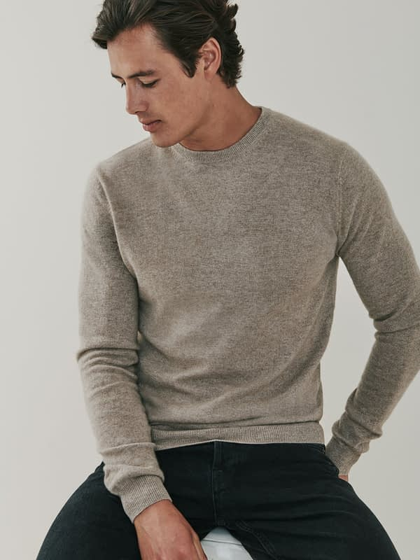 Canyon Cashmere Crew Neck Sweater - Beige