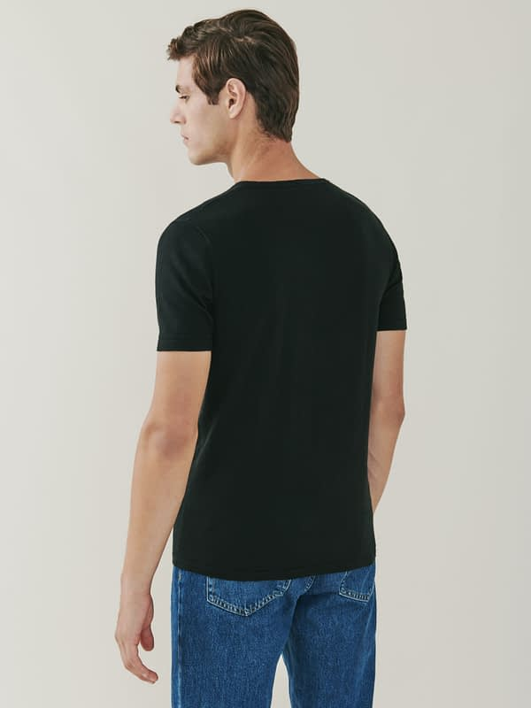 Ark Cotton and Cashmere T Shirt - Black