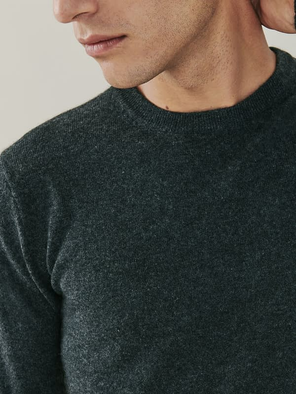 Canyon Cashmere Crew Neck Sweater - Dark Charcoal