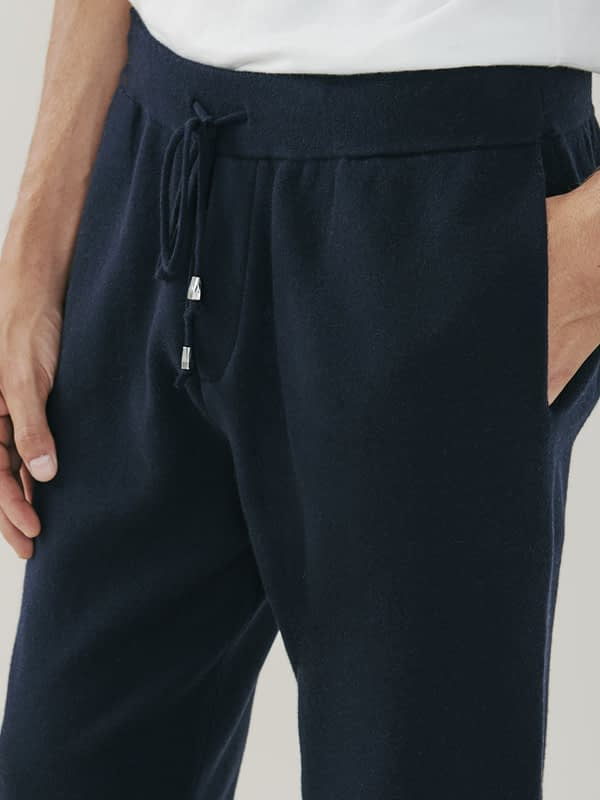 Squaw Cashmere and Merino Sweatpants - Navy