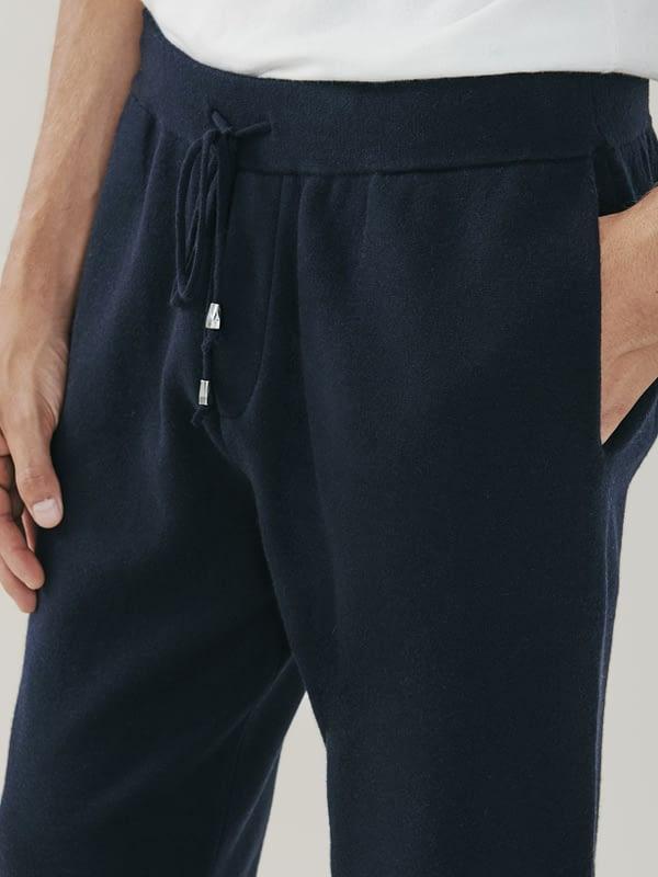 Squaw Cashmere and Merino Sweatpants - Navy