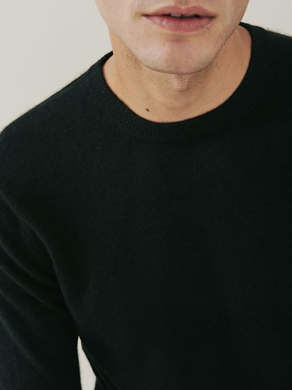 Canyon Cashmere Crew Neck Sweater - Black