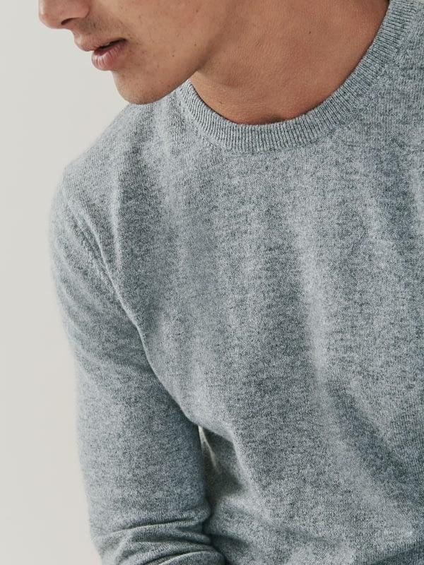 Canyon Cashmere Crew Neck Sweater - BirchGrey